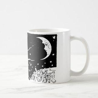 Sun Moon Vintage Night Space Scene Coffee Mug
