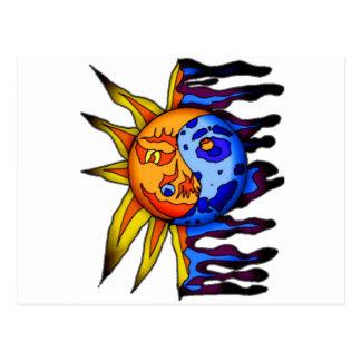 Sun / Moon Yin Yang Postcard