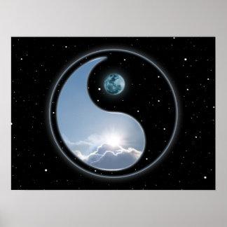 Sun-Moon Yin Yang Poster