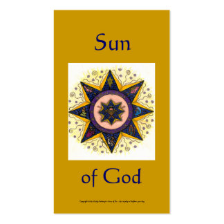 Sun of God Series #2 Pack Of Standard Business Cards