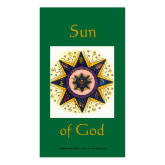 Sun of God Series #4 Pack Of Standard Business Cards