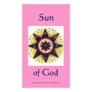 Sun of God Series #5 Pack Of Standard Business Cards