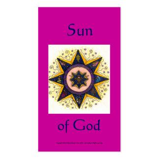 Sun of God Series #6 Business Card Template