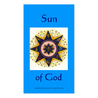 Sun of God Series #7 Pack Of Standard Business Cards