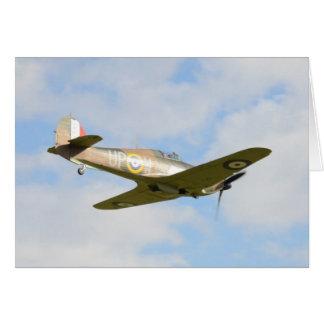 Sun On A Hawker Hurricane Greeting Card