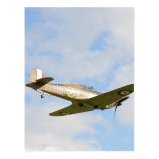 Sun On A Hawker Hurricane Postcard