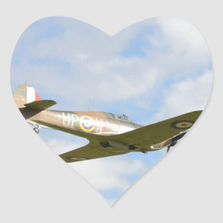 Sun On A Hawker Hurricane Heart Sticker