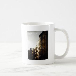 Sun on Buildings, Lower East Side, NYC Basic White Mug