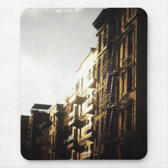 Sun on Buildings, Lower East Side, NYC Mouse Mat