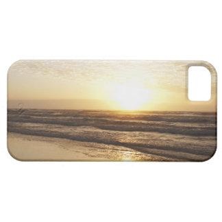 Sun on horizon over ocean iPhone 5 cases