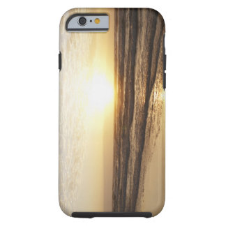 Sun on horizon over ocean tough iPhone 6 case
