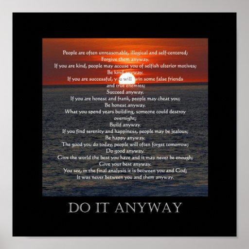 "Sun on Ocean Bottom ""Do It Anyway"" Print"