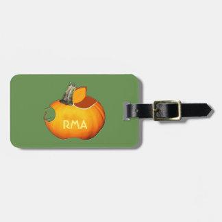 Sun Orange Pumpkin Luggage Tag