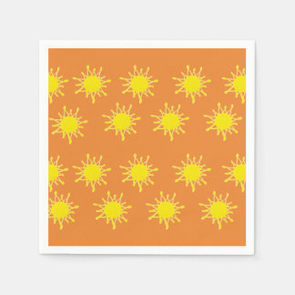 Sun Orange Yellow  Napkins Disposable Serviette