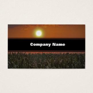 Sun Over a Corn Field Business Card