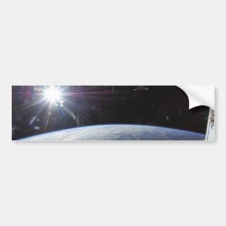 Sun Over Earth's Horizon Bumper Sticker