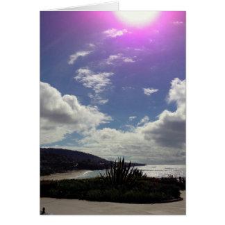 Sun over Laguna Beach Card