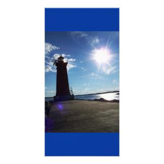 Sun Over Michigan Photo Card Template
