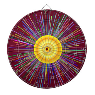 Sun Over The Moon Rainbow Fractal Dartboard