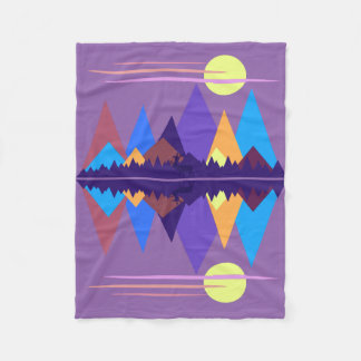 Sun Over The Mountains #2 Fleece Blanket