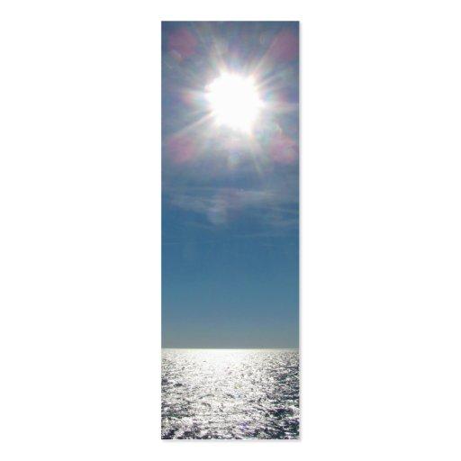 Sun Over the Ocean Photograph Business Card