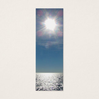 Sun Over the Ocean Photograph Mini Business Card