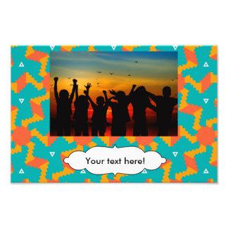 Sun pattern photo print
