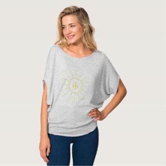 Sun Peace Women's Grey Drape T-shirt