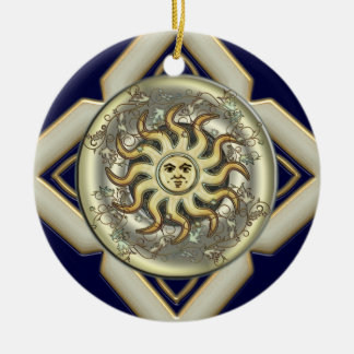 Sun Personalized Round Ornament