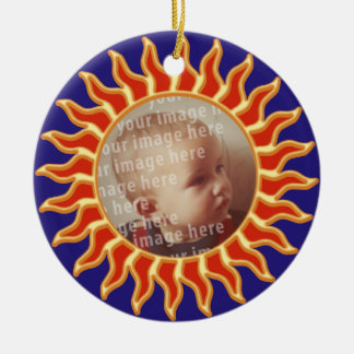 Sun Photo Frame Christmas Ornament