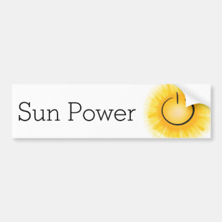 Sun Power for EVs Bumper Sticker