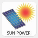 Sun Power Square Sticker