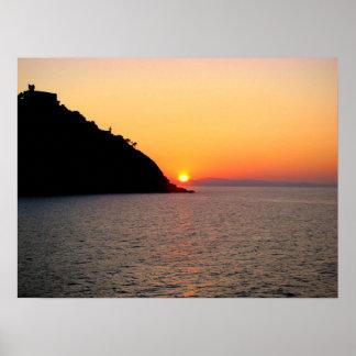 Sun putting Donostia - San Sebastian - M1 Poster