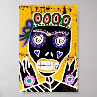 Sun Queen Sugar Skull Poster