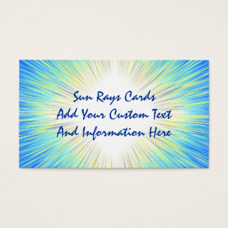 Sun Rays Business Cards