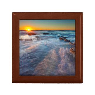 Sun rays illuminate the Pacific Ocean Small Square Gift Box