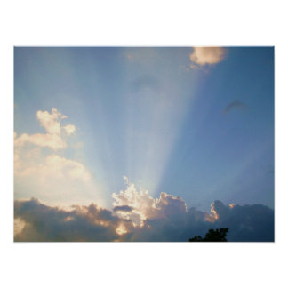 SUN RAYS IN THE CLOUDS poster
