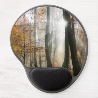 Sun Rays Mystic Misty Forest Gel Mouse Pad