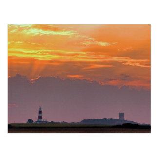 Sun rays over Happisburgh Postcards
