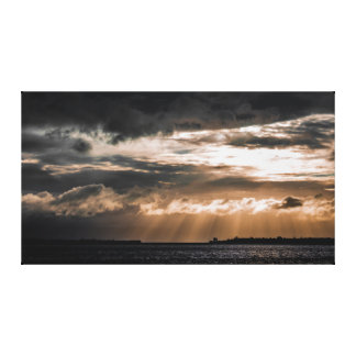 Sun Rays over Tauranga Canvas Print