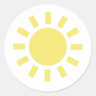 Sun: Retro weather symbol Classic Round Sticker