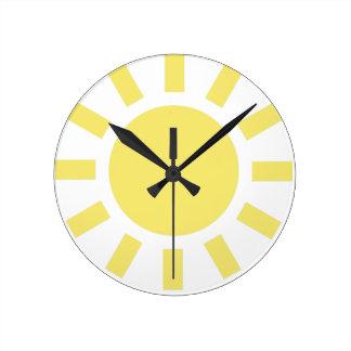 Sun Retro weather symbol Clocks