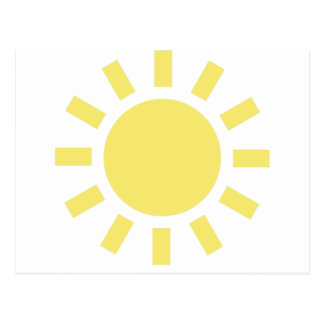 Sun: Retro weather symbol Postcard