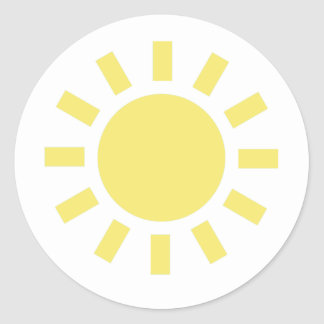 Sun: Retro weather symbol Round Stickers