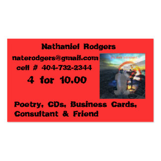 sun rising, 4 for 10.00, Nathaniel Rodgers, nat... Business Card Template