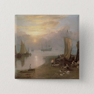 Sun Rising Through Vapour 15 Cm Square Badge