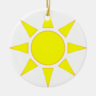 Sun Round Ceramic Decoration