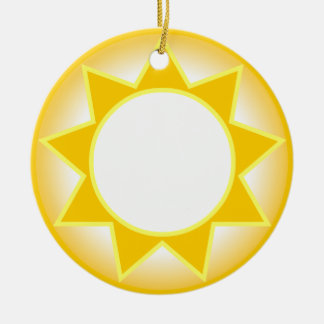 Sun Round Ceramic Decoration