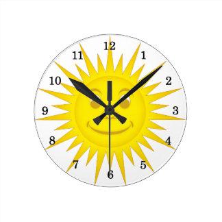 Sun Round Clock