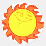 Sun Round Sticker